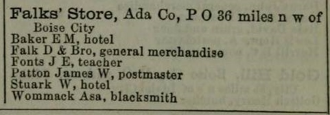 Excerpt from Pacific Coast Business Directory for 1876-78